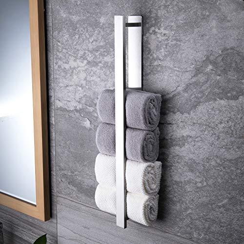 ZUNTO Handtuchhalter Ohne Bohren 55cm Gästehandtuchhalter Selbstklebend Handtuchstange aus Gebürstetem Edelstahl