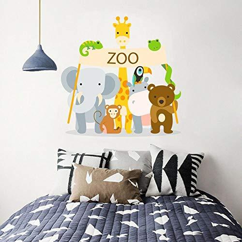 DQPCC Wall Sticker 3D Cartoon Animals 05 Wallpaper Murals Floor Wall Print Wall Sticker Au Sunmer