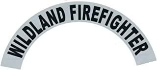 Wildland Firefighter Reflective Vinyl Sidebar Sticker Helmet Decal - T 69 Black, Silver