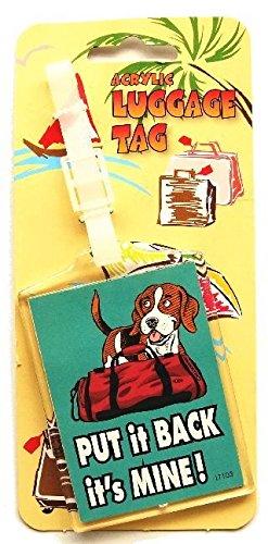 ビーグル(犬)のアクリル製ラゲッジタグ 荷札/名札 ネームタグ ネームプレート from U.K [並行輸入品]