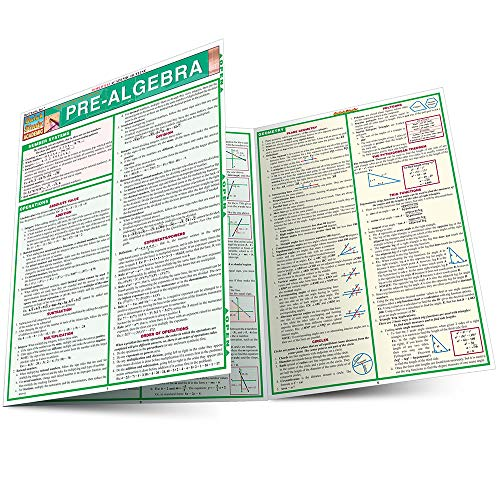 Pre-Algebra (Quickstudy Reference Guides - Academic)