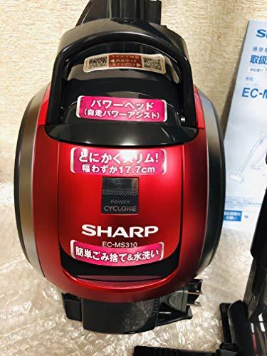 シャープ キャニスターサイクロンクリーナー 自動アシスト機能付 パワーヘッドタイプ ピンク EC-MS310-P
