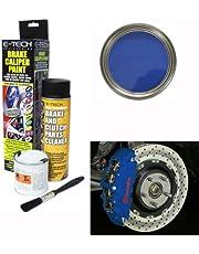 E-Tech Calidad Azul bahía Bloque Motor del Coche Tapa de la válvula de Kit de Pintura Pinza de Freno