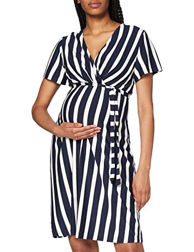 MAMALICIOUS Damen MLNEWBECKY TESS S/S Jersey ABK Dress NF, Navy Blazer, L
