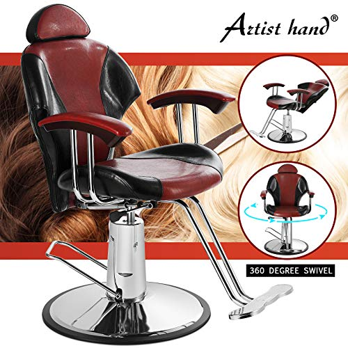 Artist Hand Reclining Barber Chair All Purpose Salon Chair for Hair Stylist Tattoo Chair Makeup Chair Salon Equipment