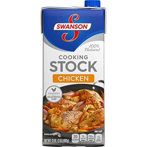 Swanson Natural Cooking Stock, Chicken, 32 Ounce