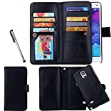 Urvoix for Samsung Galaxy Note 4, Wallet Leather Flip Card