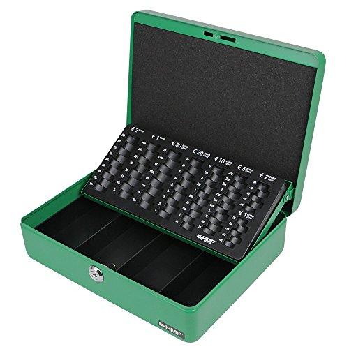 HMF 10015-06 Geldkassette Geldzählkassette 30 x 24 x 9 cm, grün