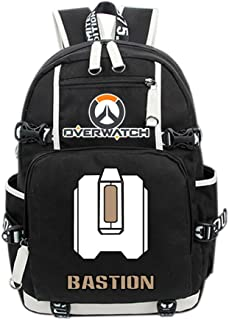 Overwatch Bastion Cosplay Backpack Deluxe Canvas School Bag Game Accessories for Teenagers