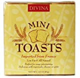 Divina Mini Toasts, White, 2.8-Ounce Packages (Pack of 24)