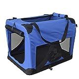 Hundetransportbox Hundebox faltbar Transportbox Autotransportbox Faltbox Transportasche 501-D01 royal blau Grösse: L – 70cm x 52cm x 52cm - 3