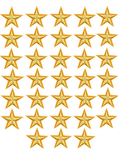 33 parches bordados pequeños de 5 estrellas para coser o planchar, para decorar ropa, chaquetas, mochilas, mochilas, reparaciones