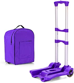 STC / Inicio turcks Carro de la Compra portátil, Trolley Trolley Truck, Carro Plegable, Remolque de aleación de Aluminio, Trolley (Color: Azul) (Color : Púrpura)