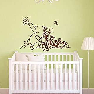 Sold by A Good Decals USA Decal Winnie The Pooh Nursery Decor - Classic Winnie The Pooh, Tigger and Piglet Graphics Vinyl Wall Decal Kids Room Deco