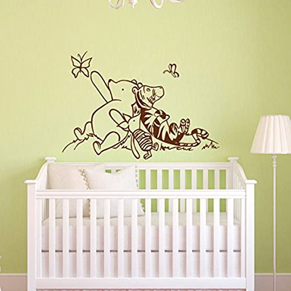 Sold By A Good Decals USA Decal Winnie The Pooh Nursery Decor Classic Winnie The Pooh Tigger And Piglet Graphics Vinyl Wall Decal Kids Room Deco
