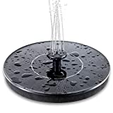 Mademax Solar Bird Bath Fountain Pump, Upgrade 1.4W Solar Fountain with 4 Nozzle, Free Standing Floating Solar Powered Water Fountain Pump for Bird Bath, Garden, Pond, Pool, Outdoor