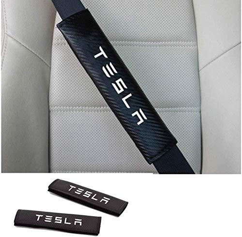 2 Piezas de Las Almohadillas de cinturón Seguridad del automóvil para Tesla Modelo 3 Modelo S Modelo X Pad CUSHIÓN Cubierta DE LA Correo DE LA CANTIDAD del Protector DE CANTIDAD DE Cubierta DE CU