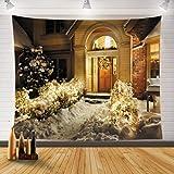 XUNGENG Tapiz de pared y colcha, diseño de chimenea o árbol de Navidad, 1,150 x 130 cm