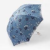 Protección Solar Paraguas de protección UV Bordado de Encaje Femenino sombrilla Princesa Paraguas pequeño Paraguas de Vinilo Fresco
