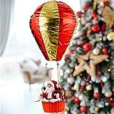 Decorazioni Da Appendere A Mongolfiera Babbo Natale, Decorazione Natalizia Per Esterni Giardino Balcone Casa Interni, Babbo Natale Decorativo Su Mongolfiera, Per Matrimoni, Compleanni, Natale, Feste