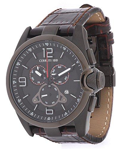 Cerruti Herren Armbanduhr Braun CRA088G223G