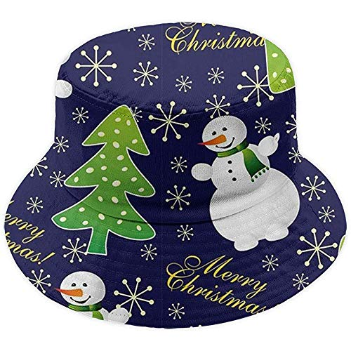 Schneemann im Kristallkugel-Eimer-Hut Packable Wide Brim Cap Outdoor Sun Hat