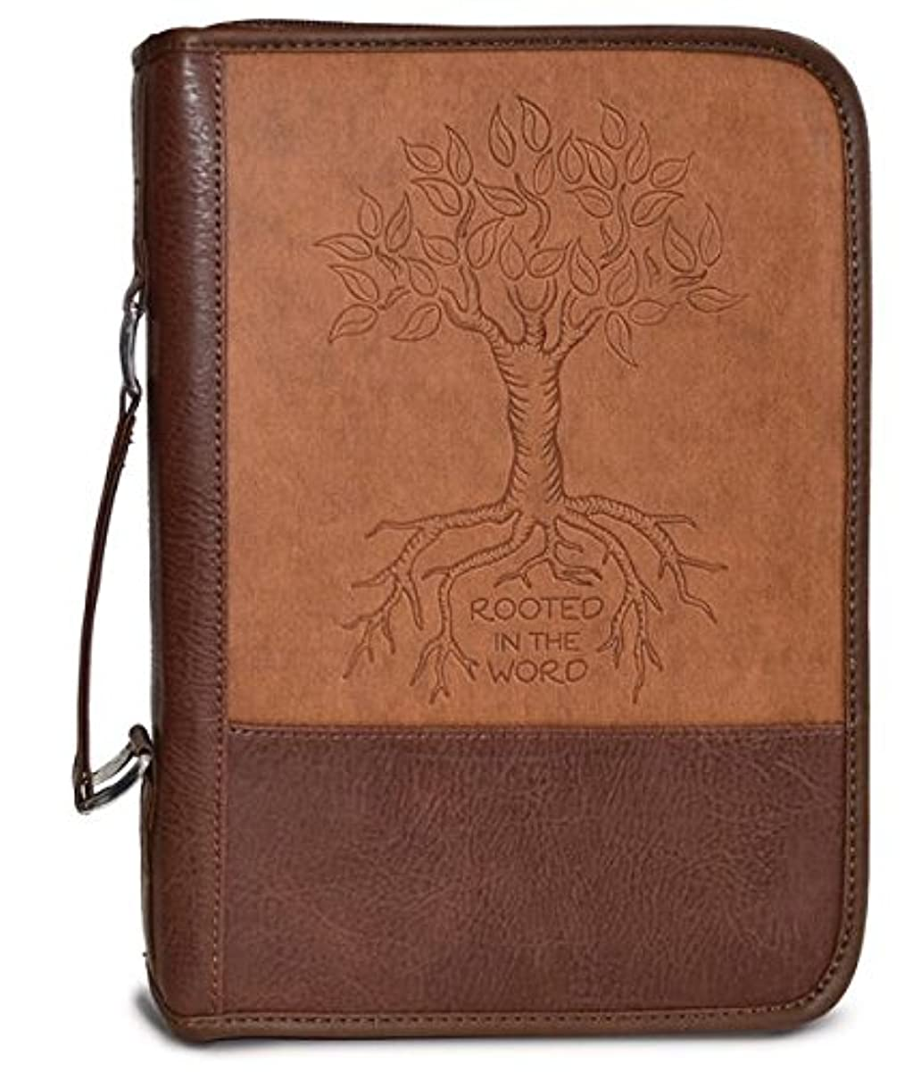 Divinity Boutique Heat Stamp Brown - Rooted L Bible Cover