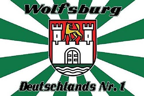 U24 Fahne Flagge Wolfsburg Deutschlands Nr. 1 Größe 90 x 150 cm