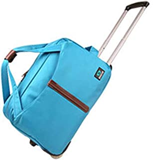 Travel Bags Trolley Case Men and Women High Capacity Waterproof Boarding Foldable Luggage Suitcases Carry On Hand Luggage Durable Hold Tingting Color : Purple, Size : 562834