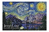 Grand Teton National Park, Wyoming - Jenny Lake - Starry Night - 1000 Piece Jigsaw Puzzles for Adults Kids, Puzzles for Toddler Children Boys and Girls 20' x 30'