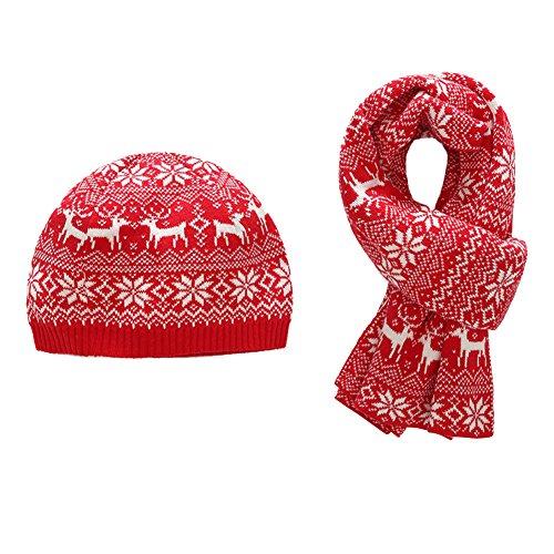 Kasen Navidad Romper para Bebé Niños Niñas Otoño Invierno Mono Lindo Jumpsuit con Un Sombrero Rojo2 66