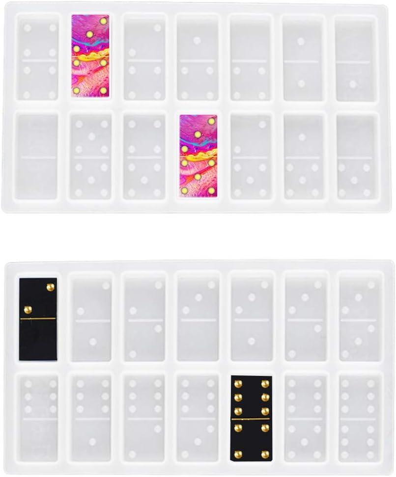 Super special price 2PCS Resin Molds Boston Mall Domino Silicone Mold for Do Epoxy