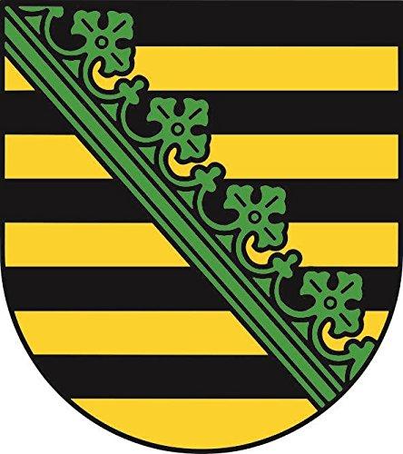 U24 Aufkleber Sachsen Wappen Autoaufkleber Sticker Konturschnitt