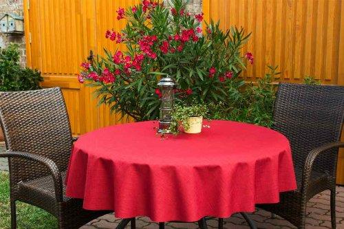 ODERTEX Garten-Tischdecke mit ACRYL Muster, Form und Größe sowie Farbe wählbar Bordeaux Oslo