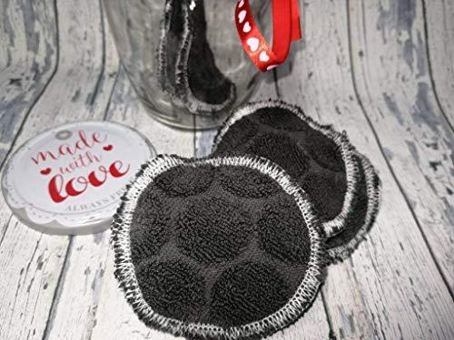 Abschmink-Pads Reinigungspads aus Baumwolle für die natürliche Gesichtsreinigung, 6 Stück im Glas. Nachhaltig umweltschonend zero waste
