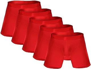 Mens Underwear Fun,Boxers Cotton,Briefs Zip,Thongs and Stockings,Men 'S Swim Trunks Red