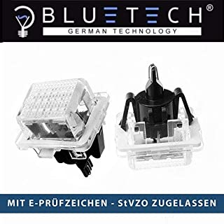 BLUETECH H9 Xenon Effect and 60 W 9500 K Headlight Lamp Pack of 2 with StVZO Certification German Law