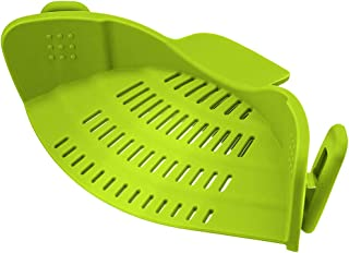 La cepa Vegetal colador Clip en Silicona Escurridor Se Adapta a Todas Las ollas y Cuencos para la Cocina (Verde)