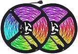 Tiras LED 10m RGB, Tira de Luz LED de 10m con IR Control Remoto, Tiras de Led Flexibles para Decoración de Fiestas de Cocina de...