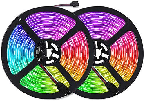 Tiras LED 10m RGB, Tira de Luz LED de 10m con IR Control Remoto, Tiras de Led Flexibles para Decoración de Fiestas de Cocina de Sala (10m)