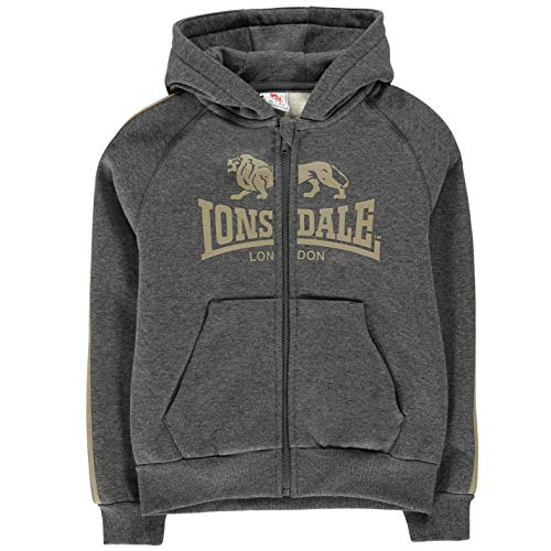 Lonsdale Herren Heavy Kapuzenpullover Hoody Hoodie Sweatshirt Gesteppt Detail