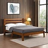 B&D home - Massivholz Bett 140x200 cm | Bettgestell 140x200 inkl. lattenrost | Family Bed Frame 140 x 200