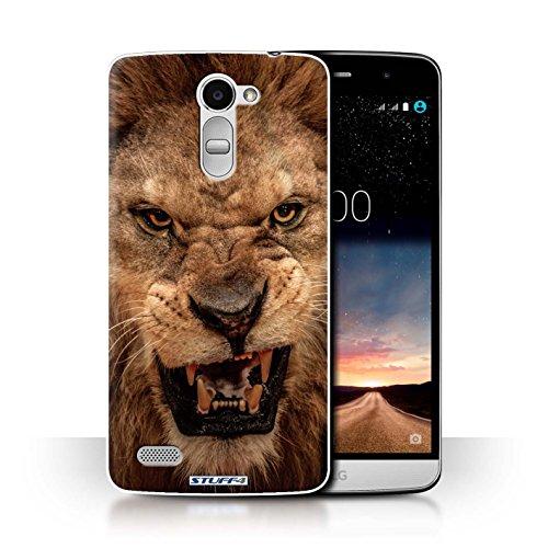 Hülle Für LG Ray/X190 Wilde Tiere Löwe Design Transparent Ultra Dünn Klar Hart Schutz Handyhülle Hülle