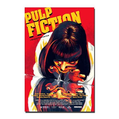 Póster de la película Pulp Fiction de la película de arte vintage de seda cartel de hojalata, de metal, estilo retro, para el hogar, pub, bar, decoración de pared, 20 x 30 cm