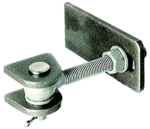 GAH-Alberts 411138 Torband für 180° Öffnung, lange Ausführung, feuerverzinkte Schrauben und Muttern, Bolzen und Splint aus Edelstahl, Gewinde: M16