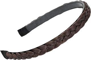 Headband Plaited Braid Hair Band Braided Hairband Braid Headband Deep Maroon