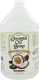 Nutribiotic Pure Coconut Oil Soap, Unscented, 128 Fluid Ounce