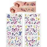 6 Sheets Tatuajes temporales de My Little Pony Einhorn, pegatinas de piel (más de 100 diseños), cumpleaños para ,útiles escolares, suministros de fiesta, pegatinas de regalo para niños…