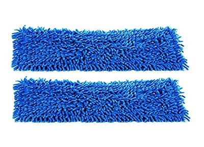 """24"""" Commercial and Janitorial Microfiber Wet Mop Refill Pads for Flat Microfiber Mop Frames"""