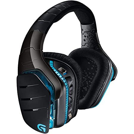 Logitech G933 Artemis Spectrum – Wireless RGB 7.1 Dolby and DTS Headphone Surround Sound Gaming Headset – PC, PS4, Xbox One, Switch, and Mobile Compatible – Advanced Audio Drivers – Black